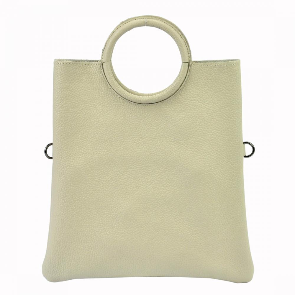 Kožená béžová moderní dámská kabelka Patrizia Piu