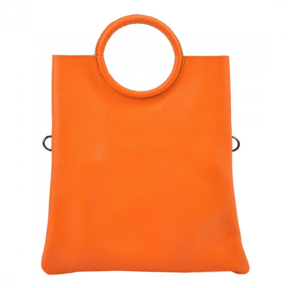 Kožená oranžová moderní dámská kabelka Patrizia Piu