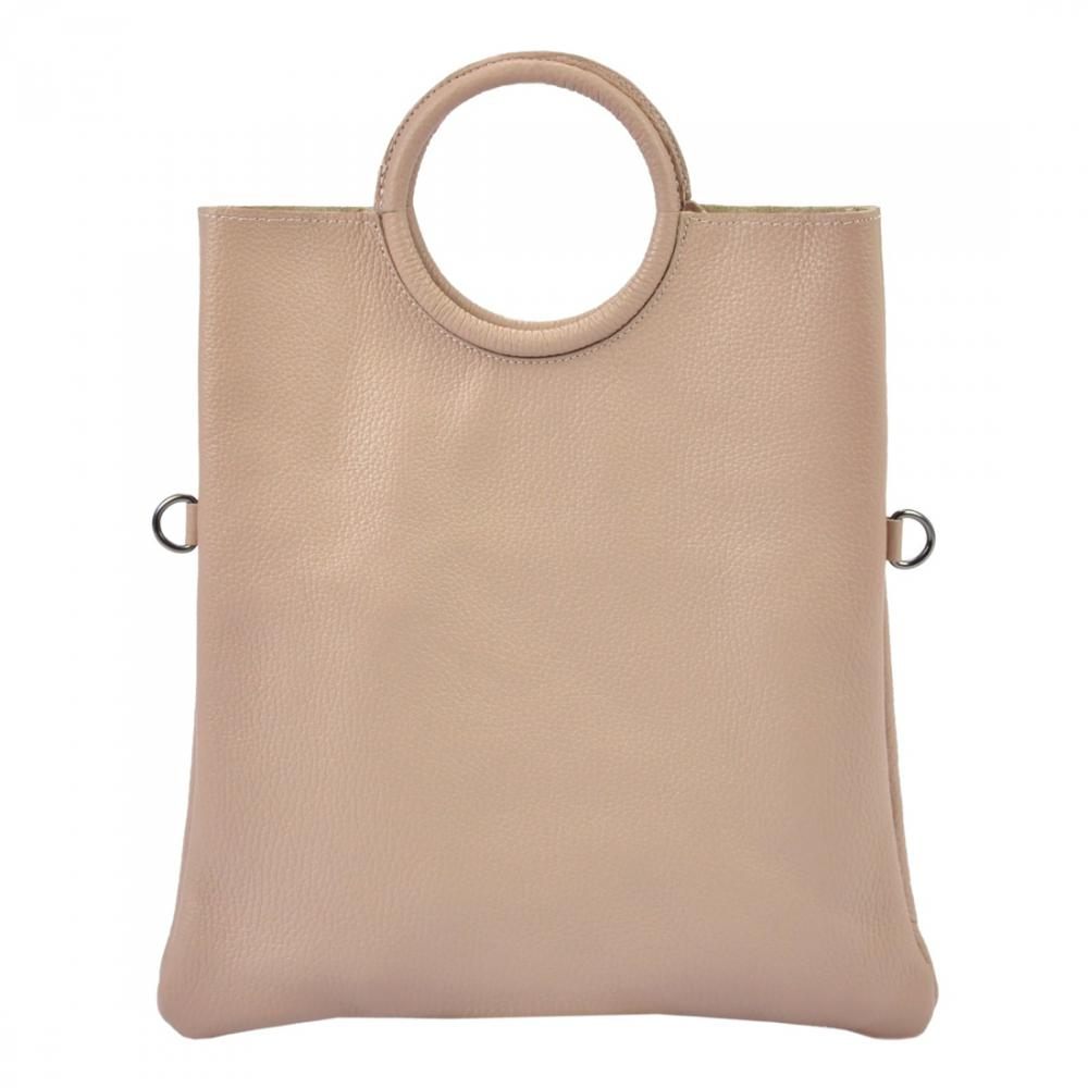 a572df36e2 Kožená růžová moderní dámská kabelka Patrizia Piu