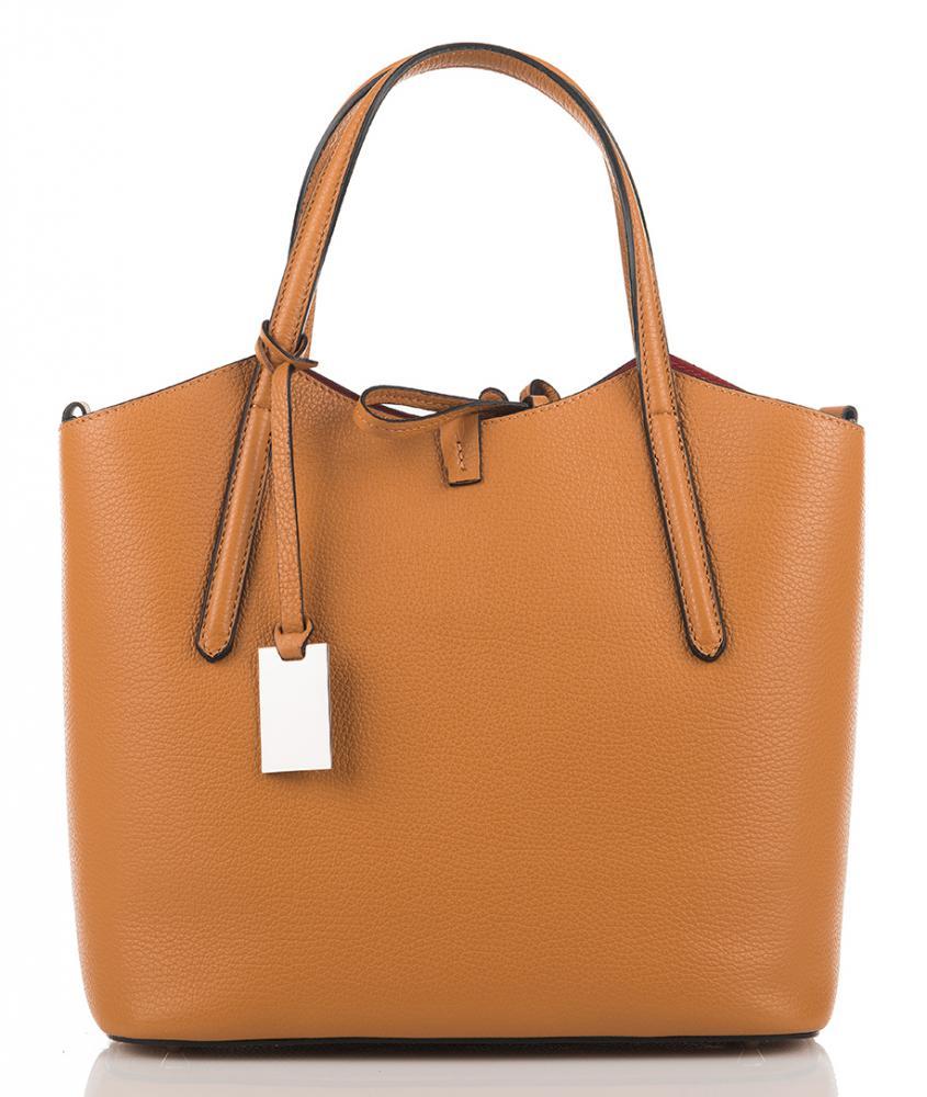 Kožená italská dámská kabelka hnědá First Lady  + protiprachový sáček