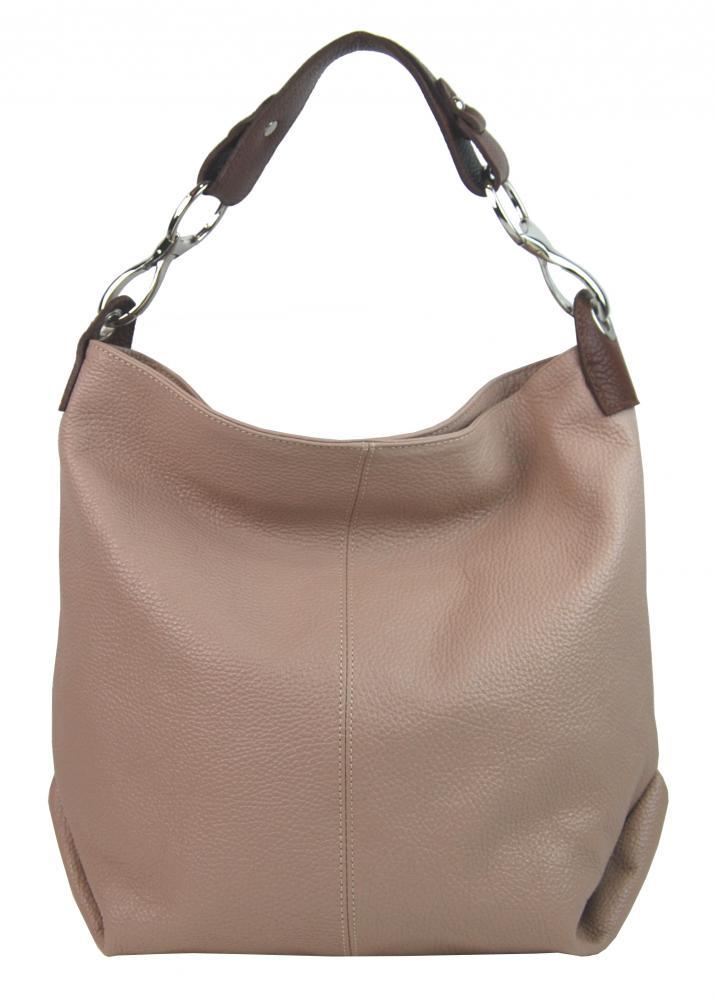 Kožená dámská kabelka Shaila starorůžová