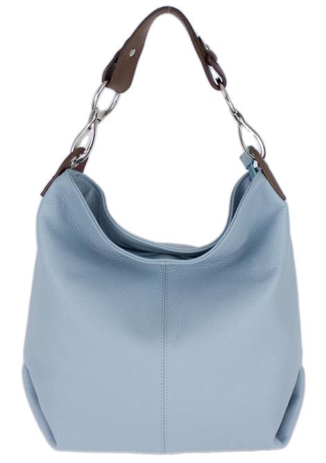 Kožená dámská kabelka Shaila světle modrá
