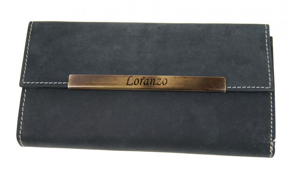 Dámska kožená peňaženka LORANZO 946 čierna