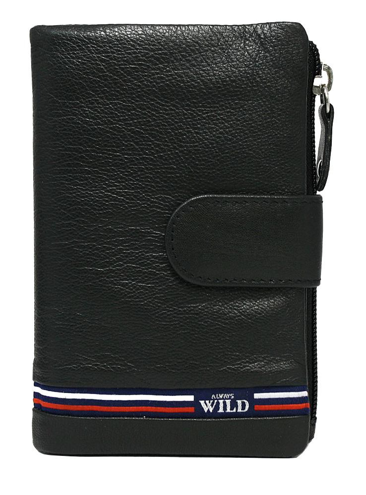 Černá dámská kožená peněženka WILD v krabičce