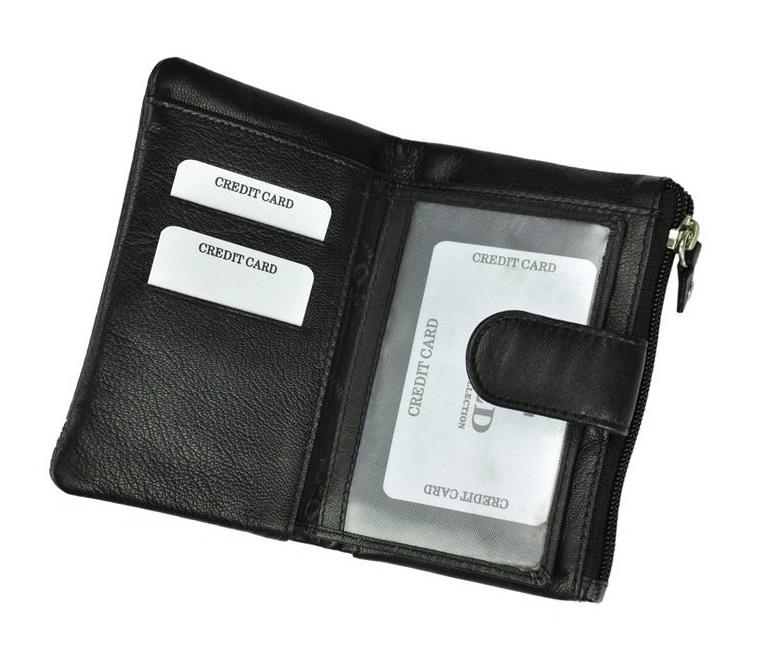 Černá dámská kožená peněženka WILD v krabičce  b9792f305a