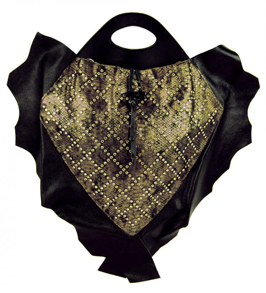 Luxusná kožená kabelka Fasco Berlin Fish Design 68635 zlatá