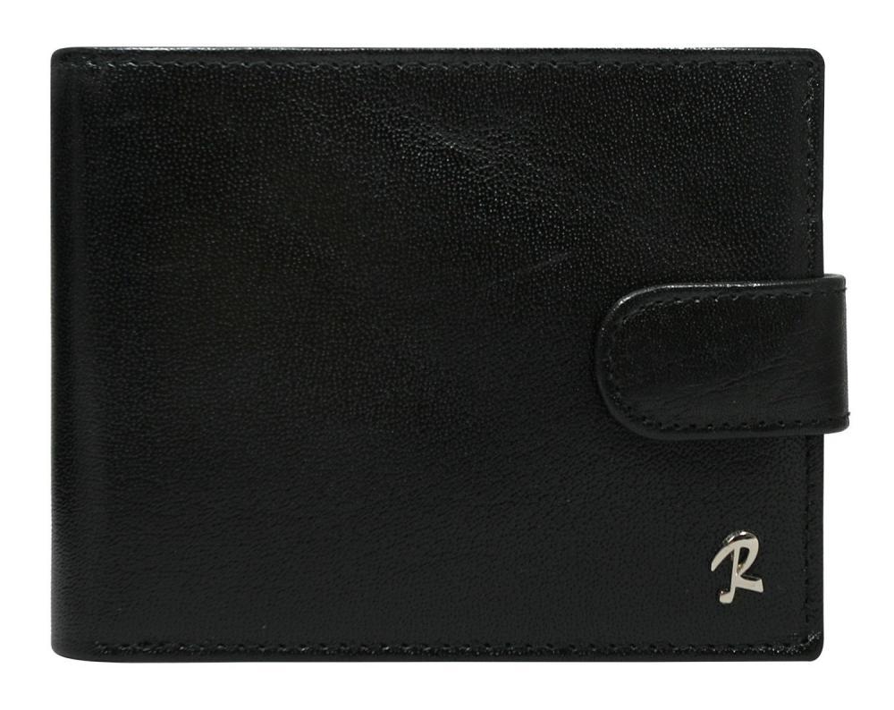 Černá pánská kožená peněženka RFID v krabičce ROVICKY