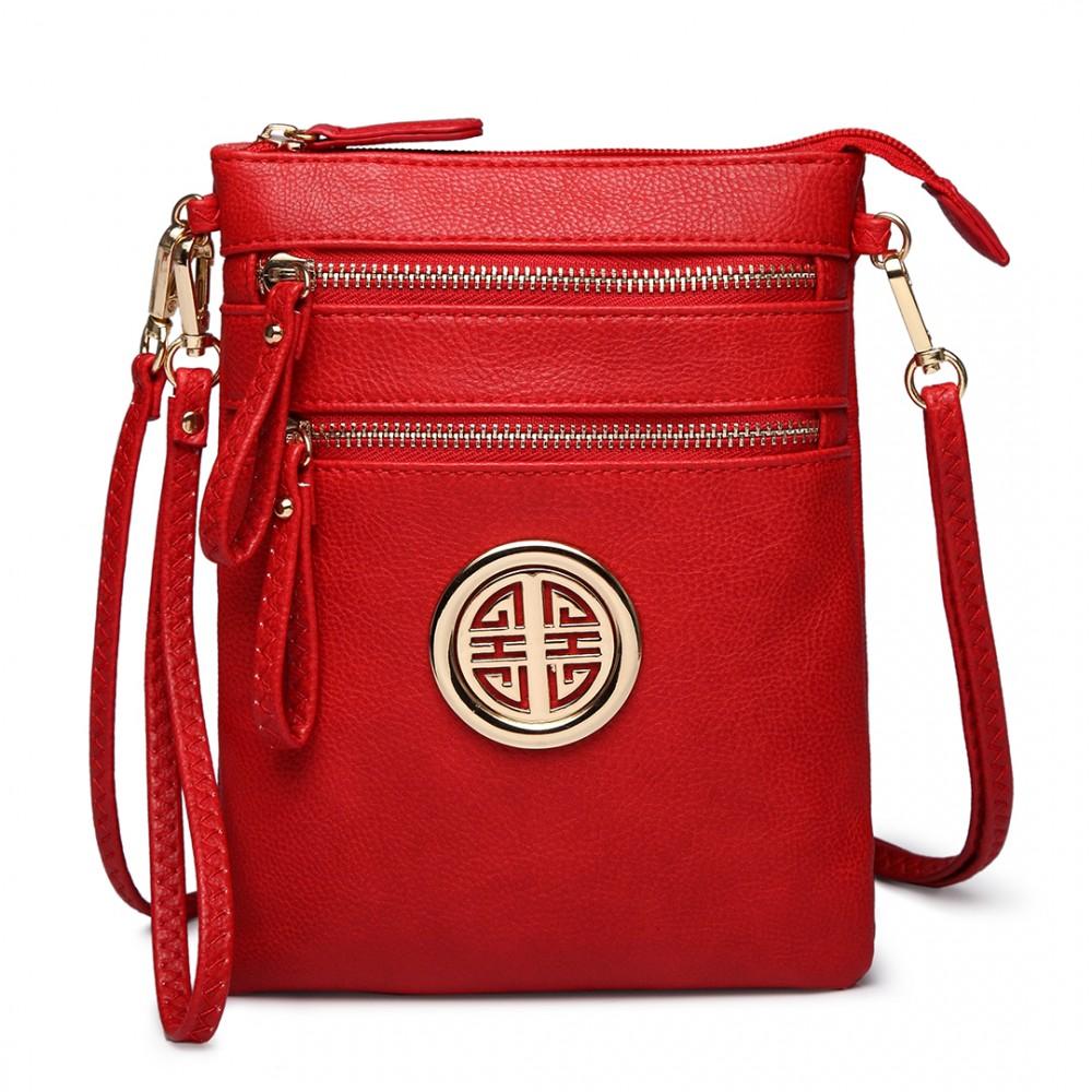 Červená crossbody dámská kabelka Miss Lulu