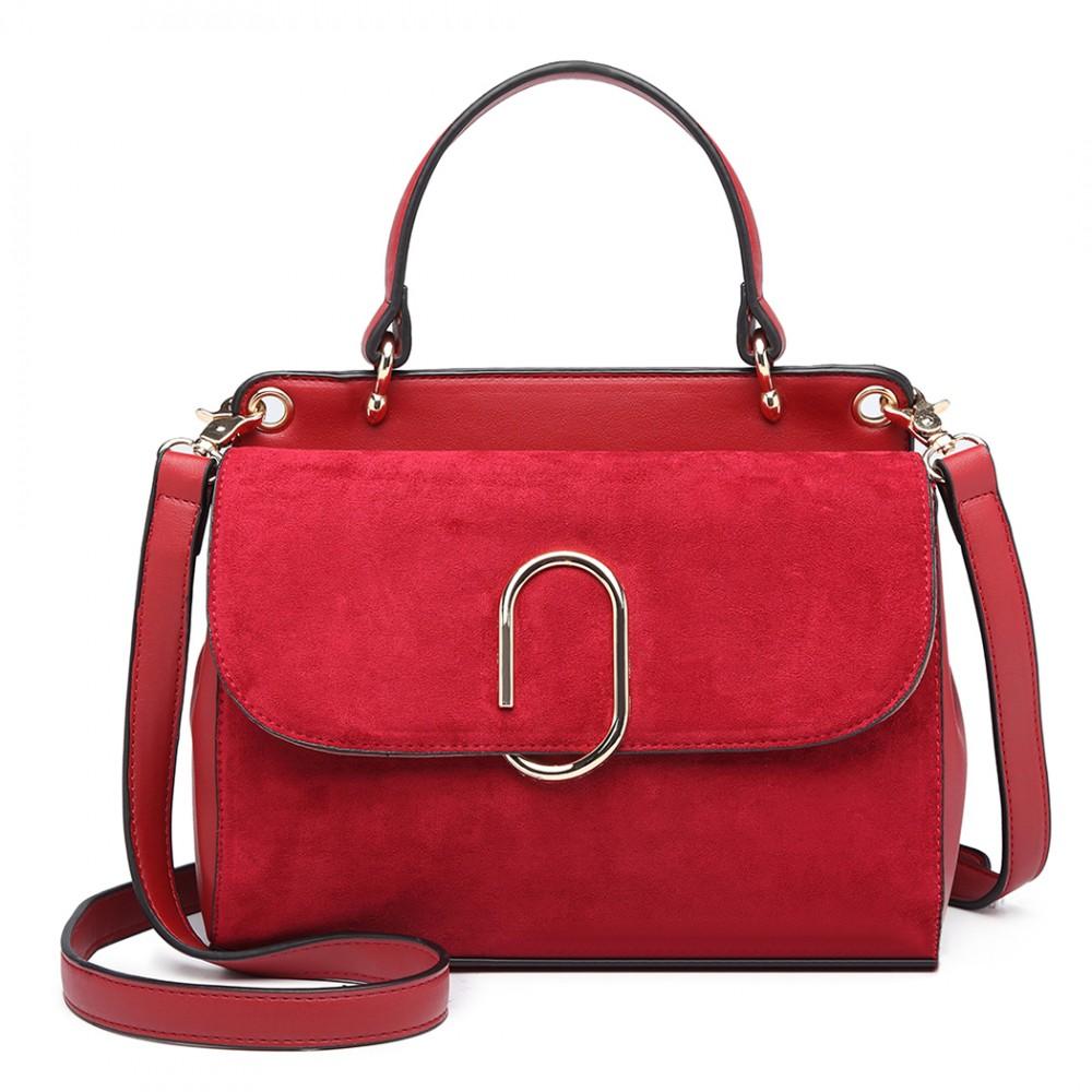 Originální červená menší dámská kabelka Miss Lulu