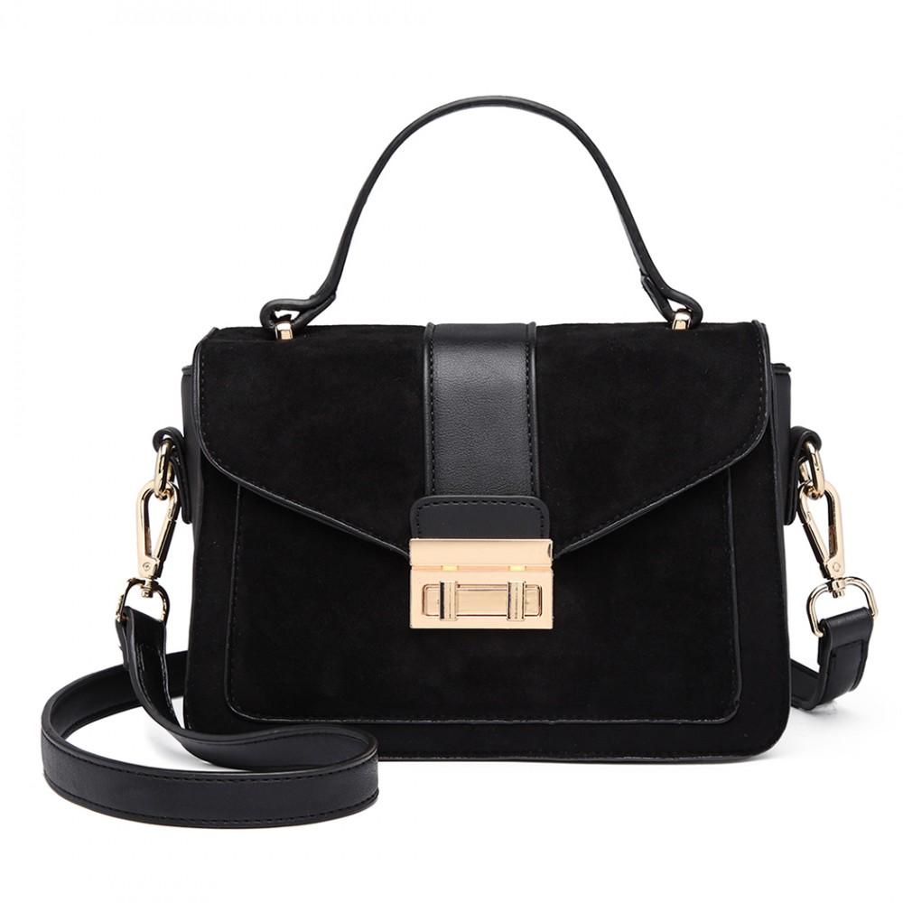 Stylová černá menší dámská kabelka Miss Lulu