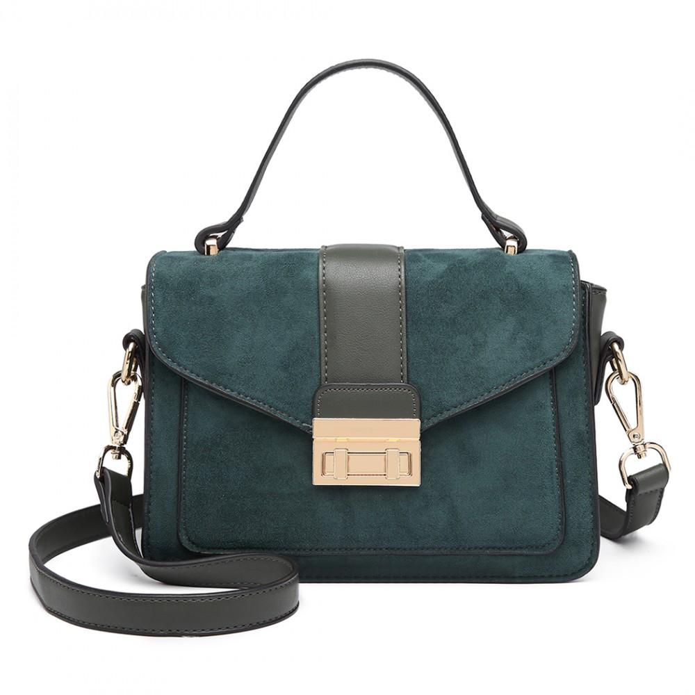 Stylová zelená menší dámská kabelka Miss Lulu