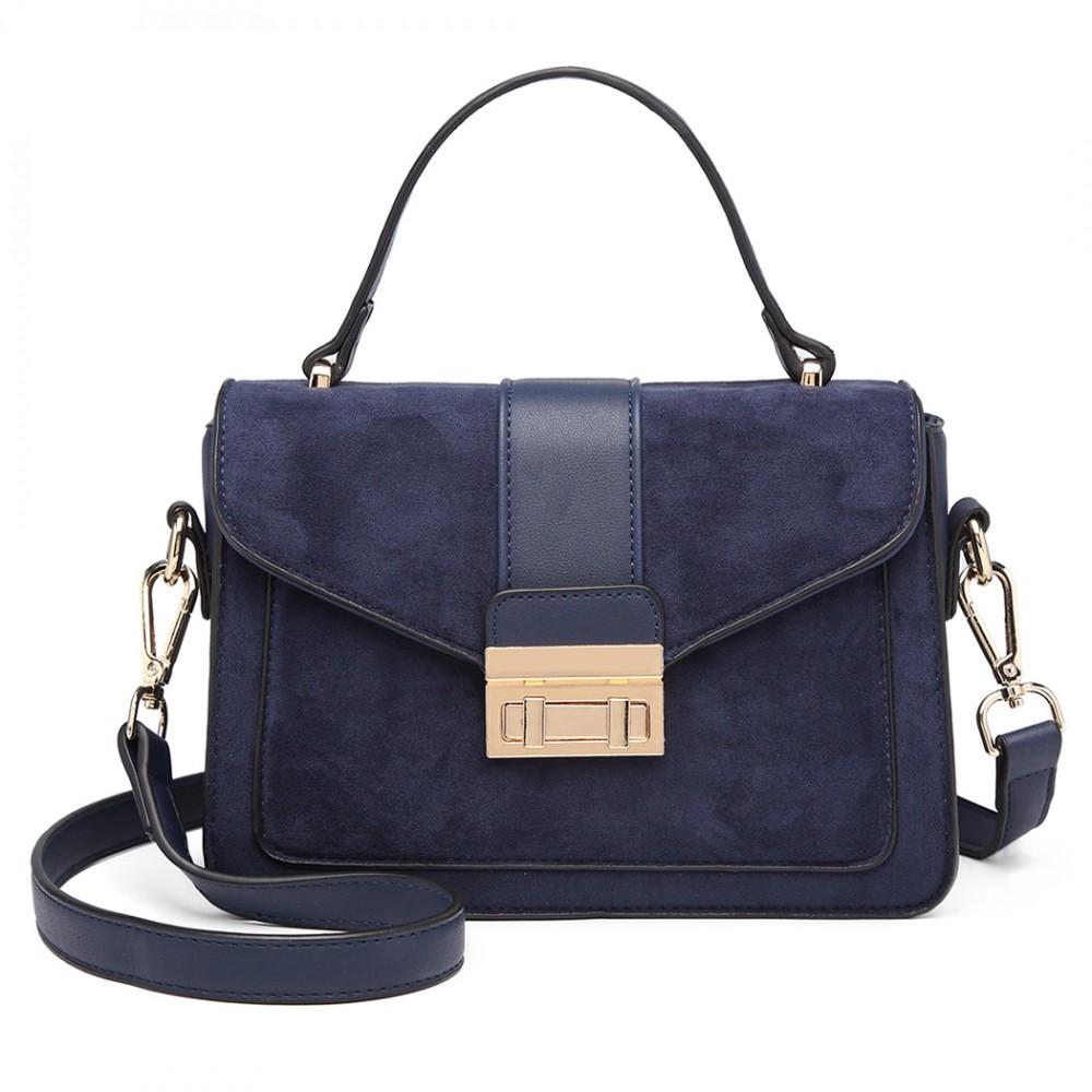Stylová modrá menší dámská kabelka Miss Lulu
