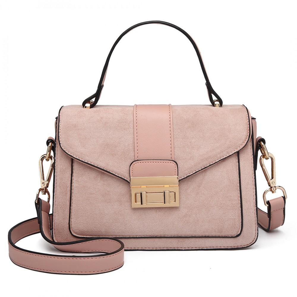 Stylová růžová menší dámská kabelka Miss Lulu