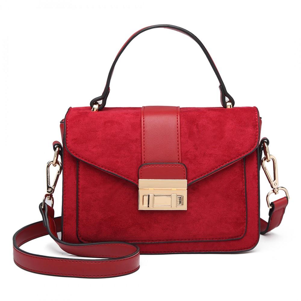 Stylová červená menší dámská kabelka Miss Lulu