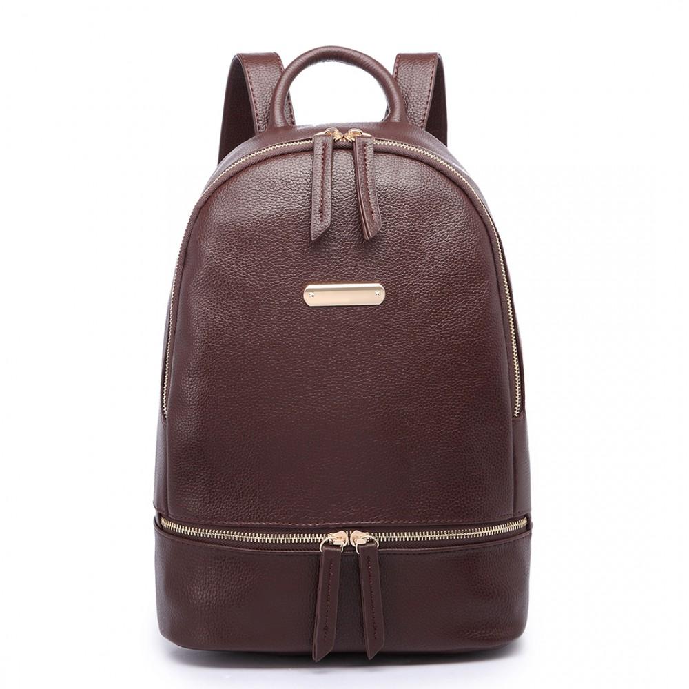 Kávovo hnedý dámsky elegantný batoh Miss Lulu