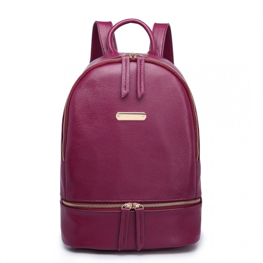 Vínovo červený dámsky elegantný batoh Miss Lulu