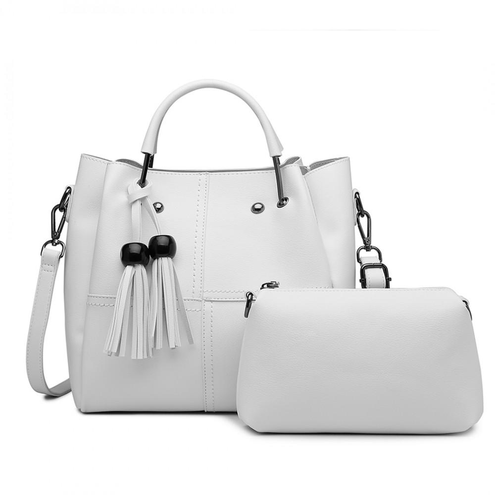 e5b2f6309af2 Luxusní béžový dámský kabelkový set 2v1 Miss Lulu