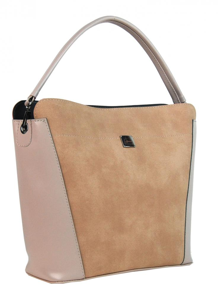 Lososovo-růžová elegantní dámská kabelka S691 GROSSO