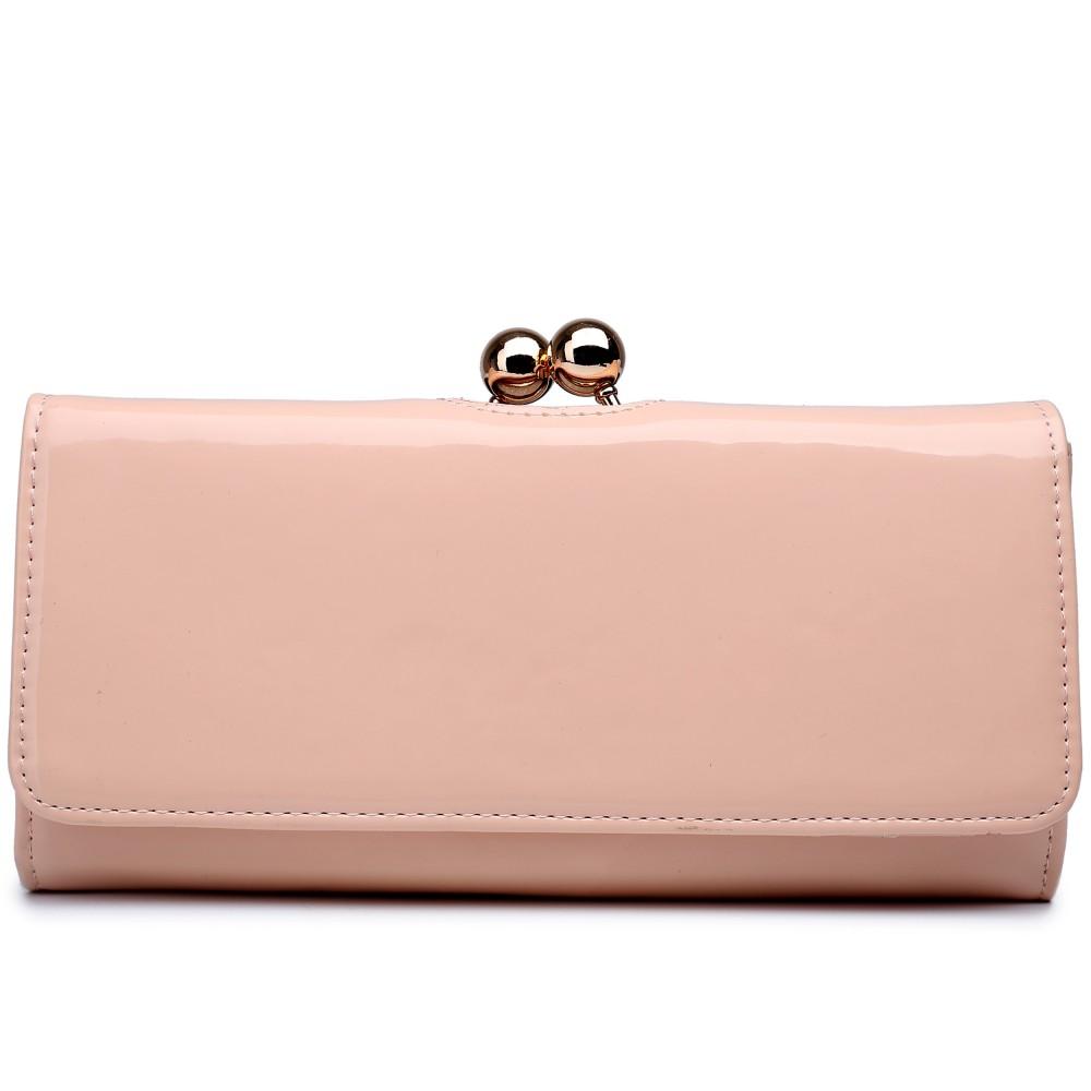 Módna dámska peňaženka púdrová lakovaná Miss Lulu