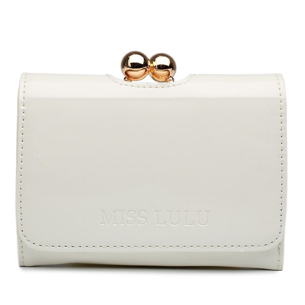 Módní dámská peněženka béžový lak Miss Lulu