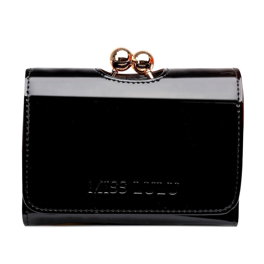 Módna dámska peňaženka čierny lak Miss Lulu