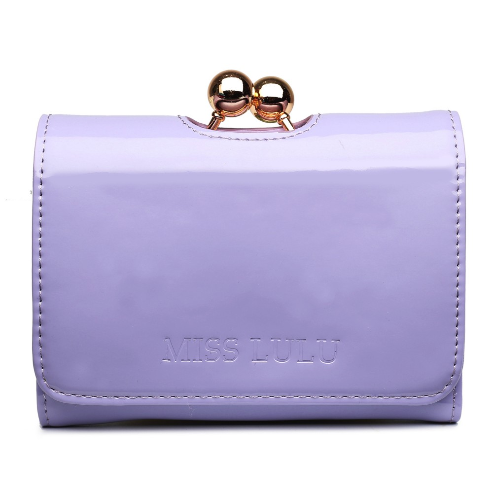 Módna dámska peňaženka svetlo fialový lak Miss Lulu