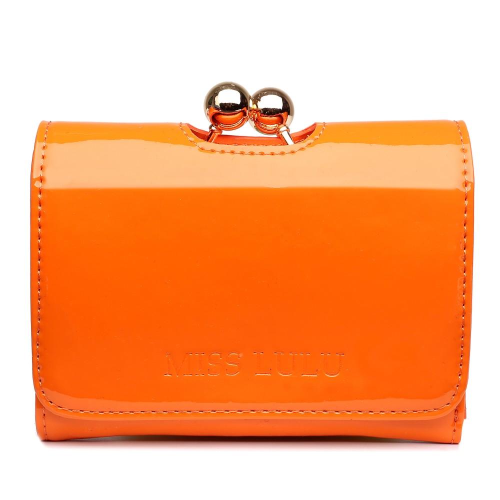 Módna dámska peňaženka oranžový lak Miss Lulu