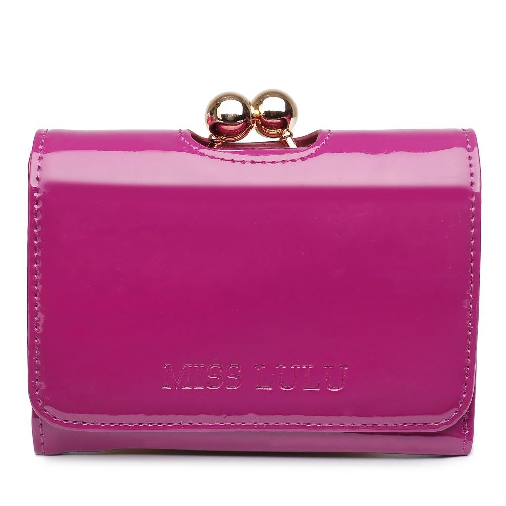 Módní dámská peněženka purpurový lak Miss Lulu