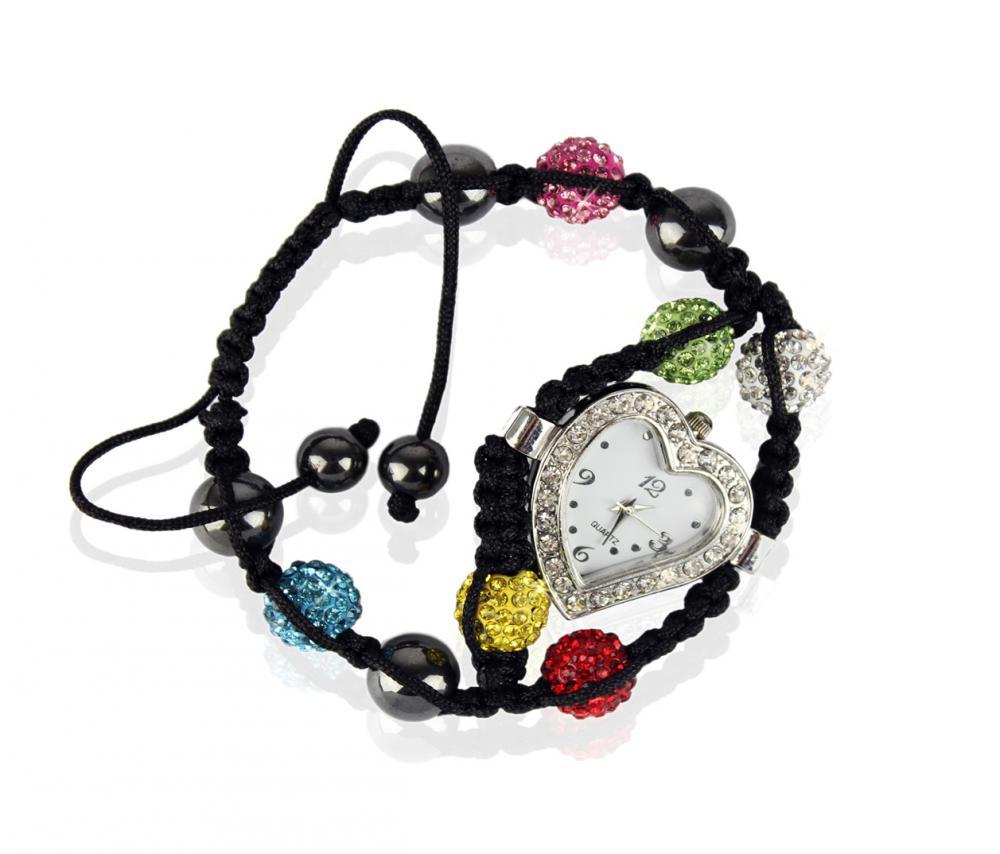 Náramok s hodinkami Shamballa LSB 0019 farebný