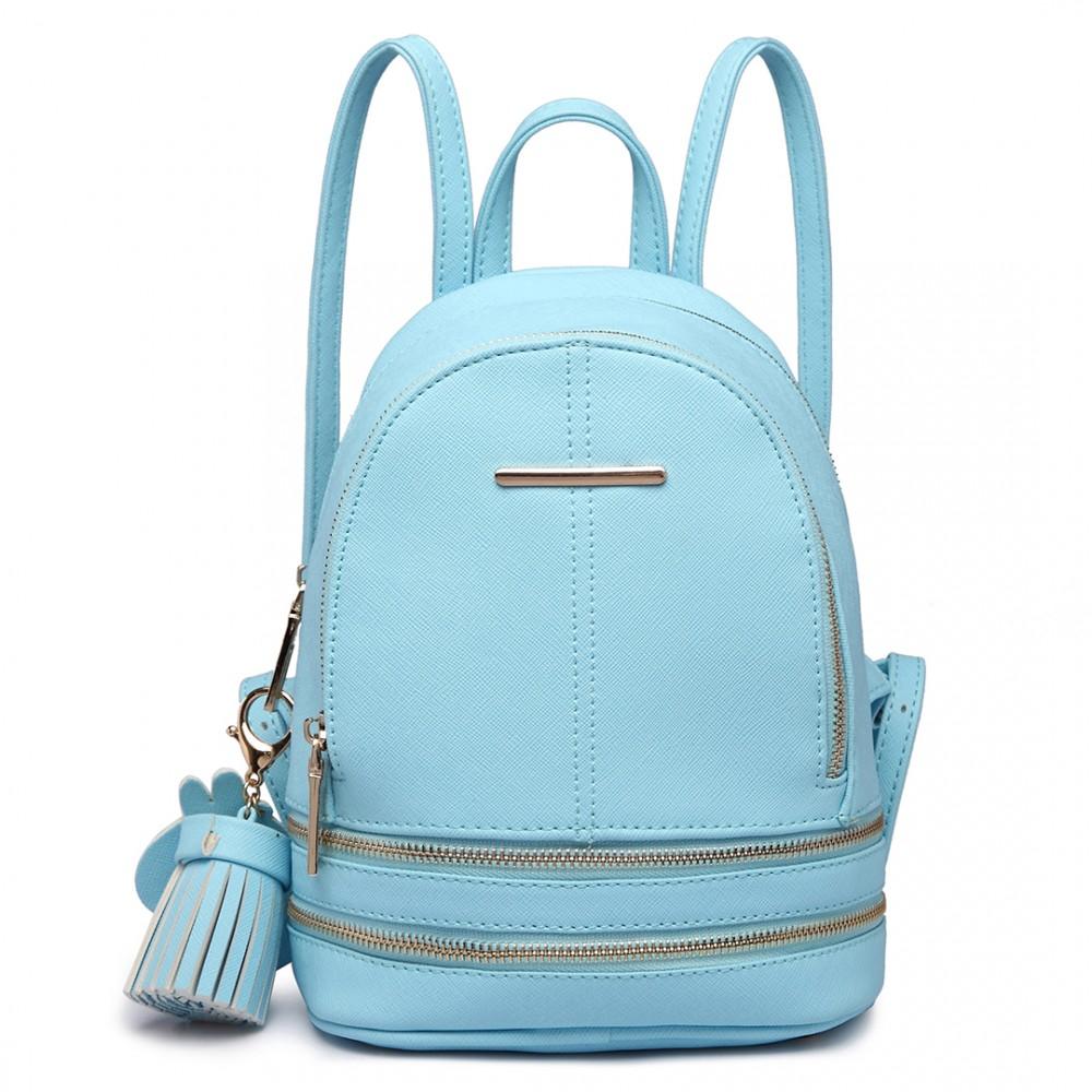 3efaa2d981 Roztomilý modrý designový dámský batůžek Miss Lulu empty