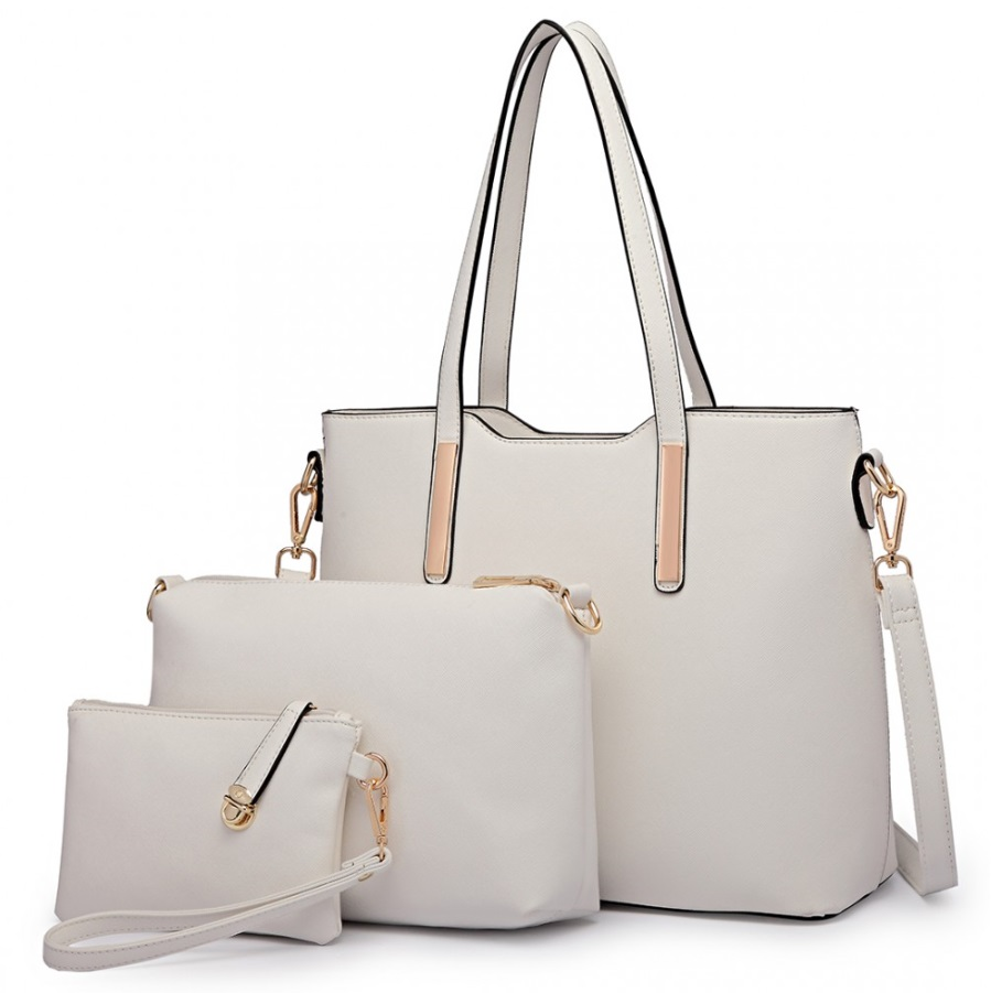 d10c374e0 Praktický dámský kabelkový set 3v1 Miss Lulu bílá | M&N Elegante