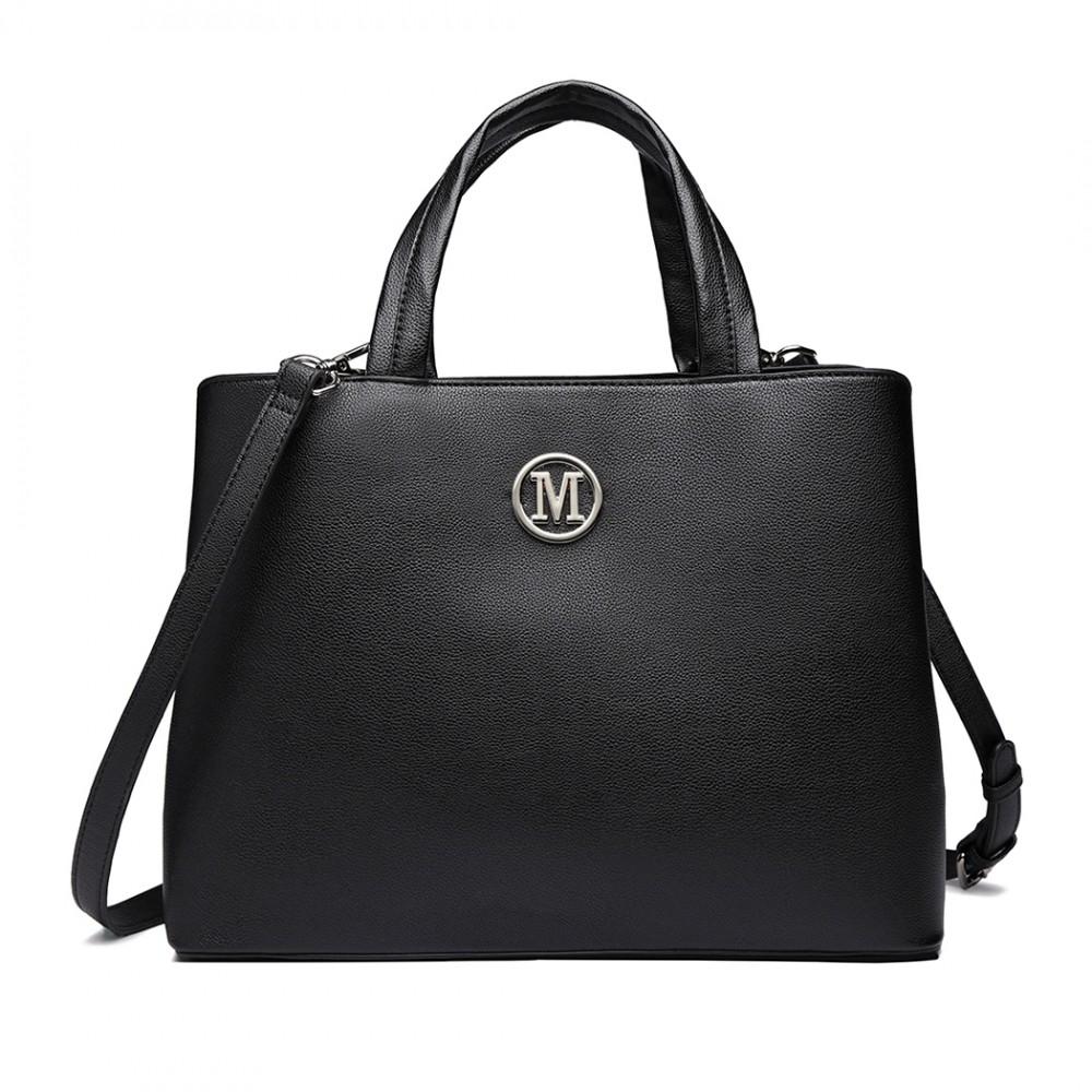 Čierna dámska elegantná kabelka Miss Lulu