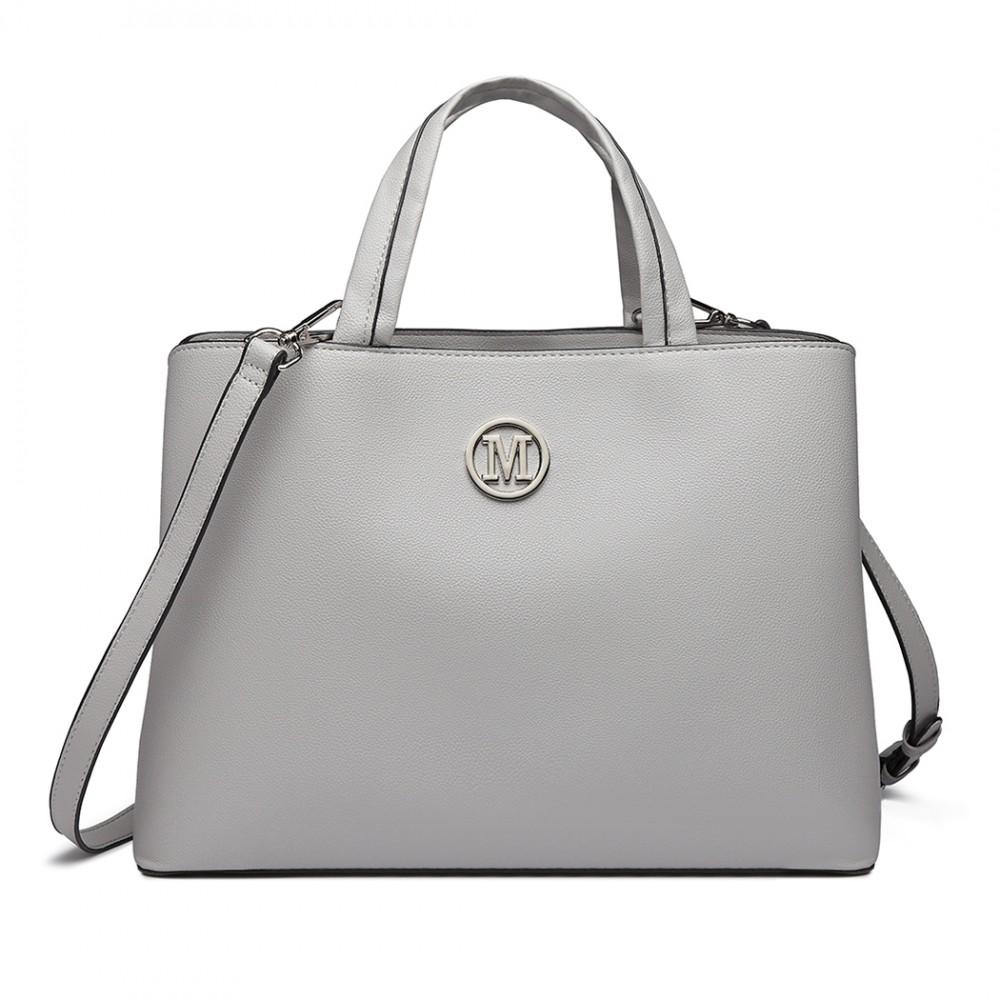 Šedá dámska elegantná kabelka Miss Lulu