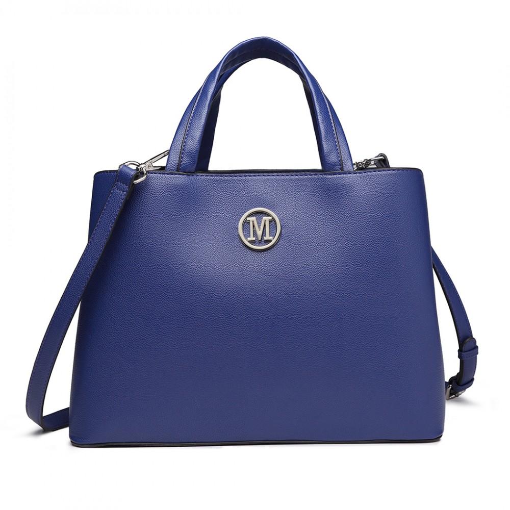 Modrá dámska elegantná kabelka Miss Lulu