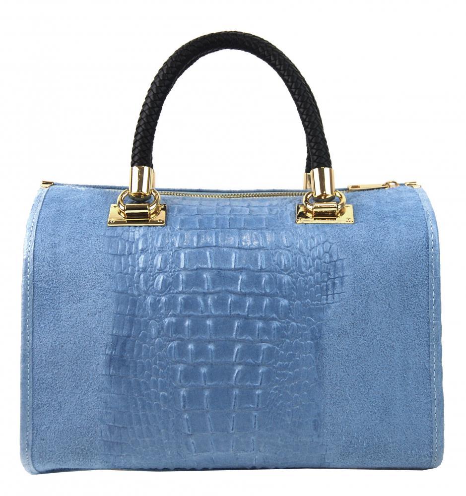 Kožená dámská kabelka Marianne blankytně modrá