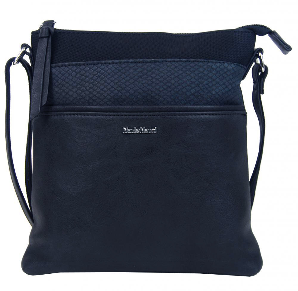 Menší crossbody dámská kabelka 3458-MM tmavě modrá