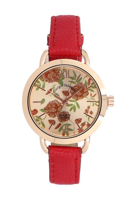 Červené náramkové dámské hodinky Giorgie TC19047