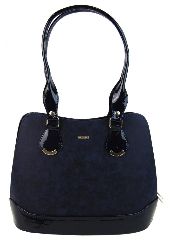 Menší modrá kabelka přes rameno S634 GROSSO