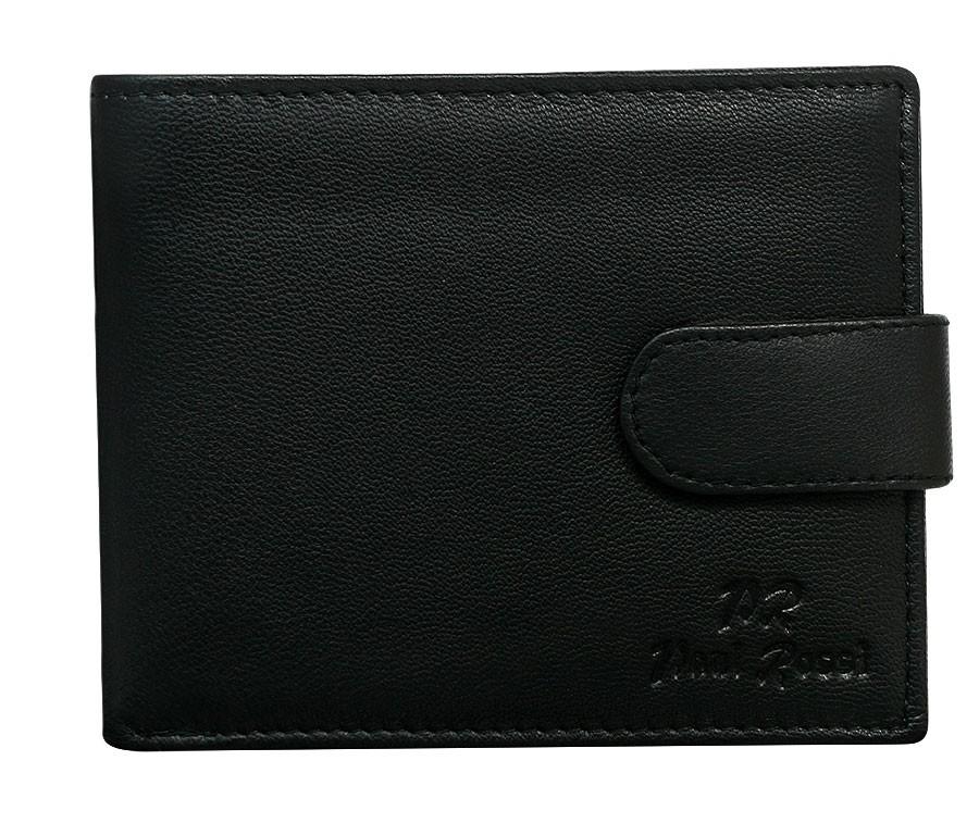 Černá pánská kožená peněženka Paul Rossi