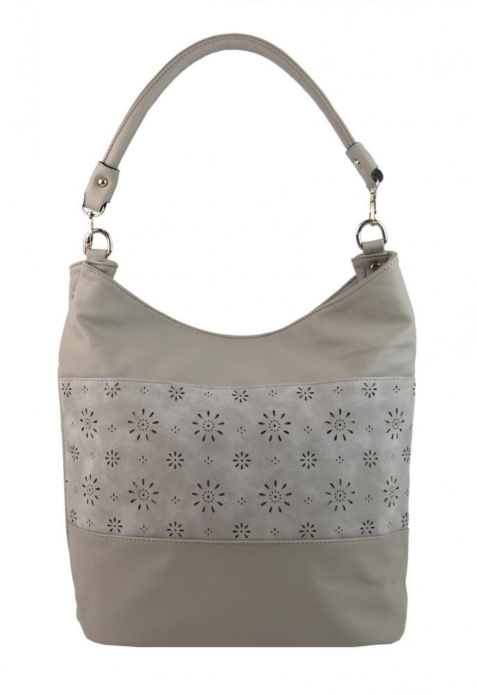 Kombinovaná dámská kabelka se vzorem NH6075 středně šedá