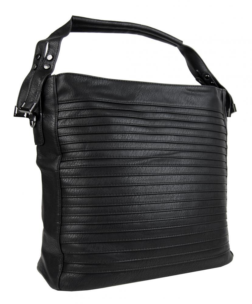 Veľká čierna nariasená kabelka Tapple OS0002
