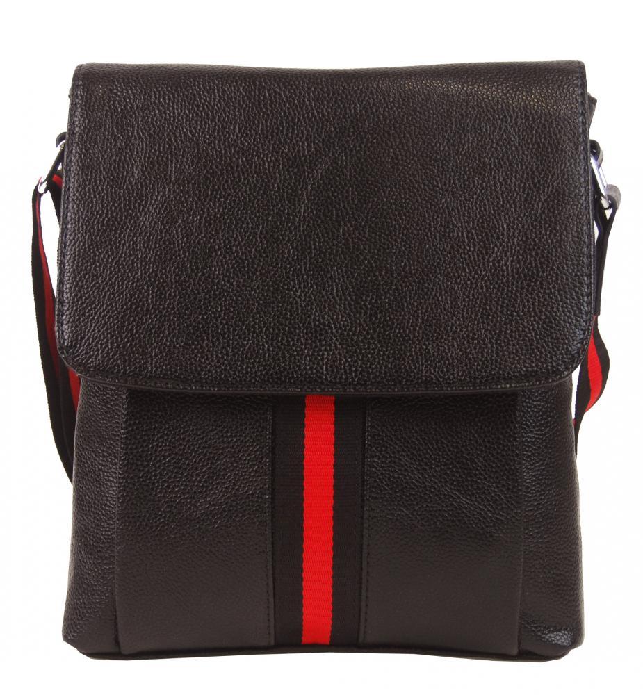 Tmavě hnědá pánská crossbody taška 4329-BB