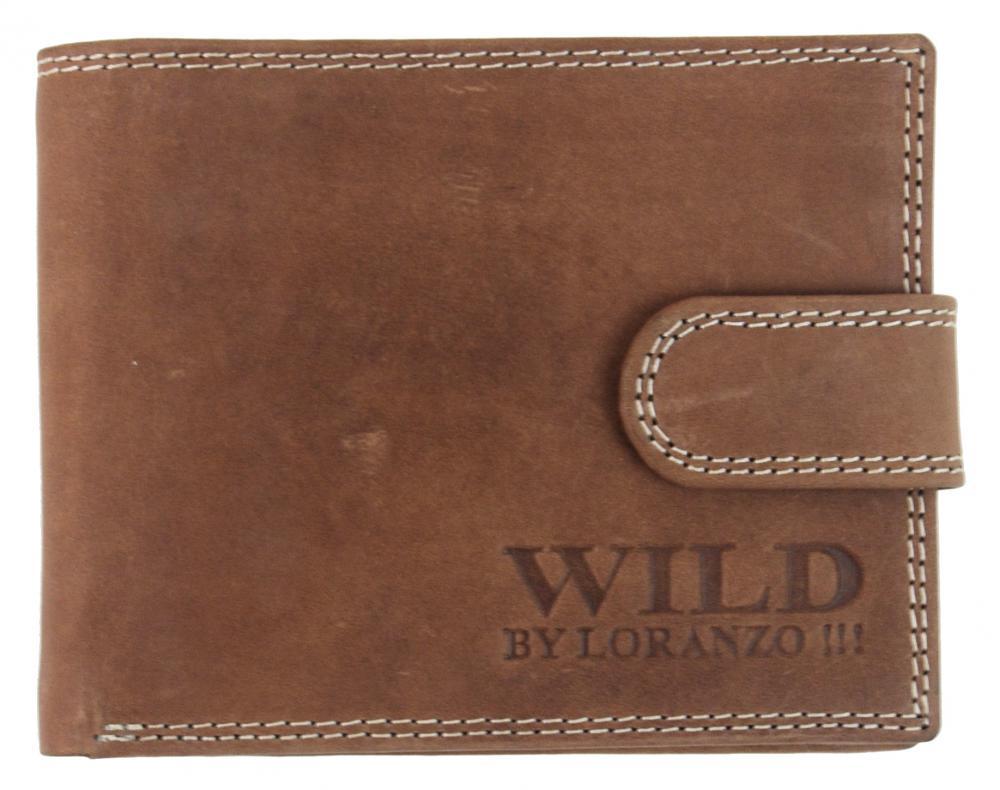 Pánská peněženka z broušené kůže WILD 987 opálová hnědá