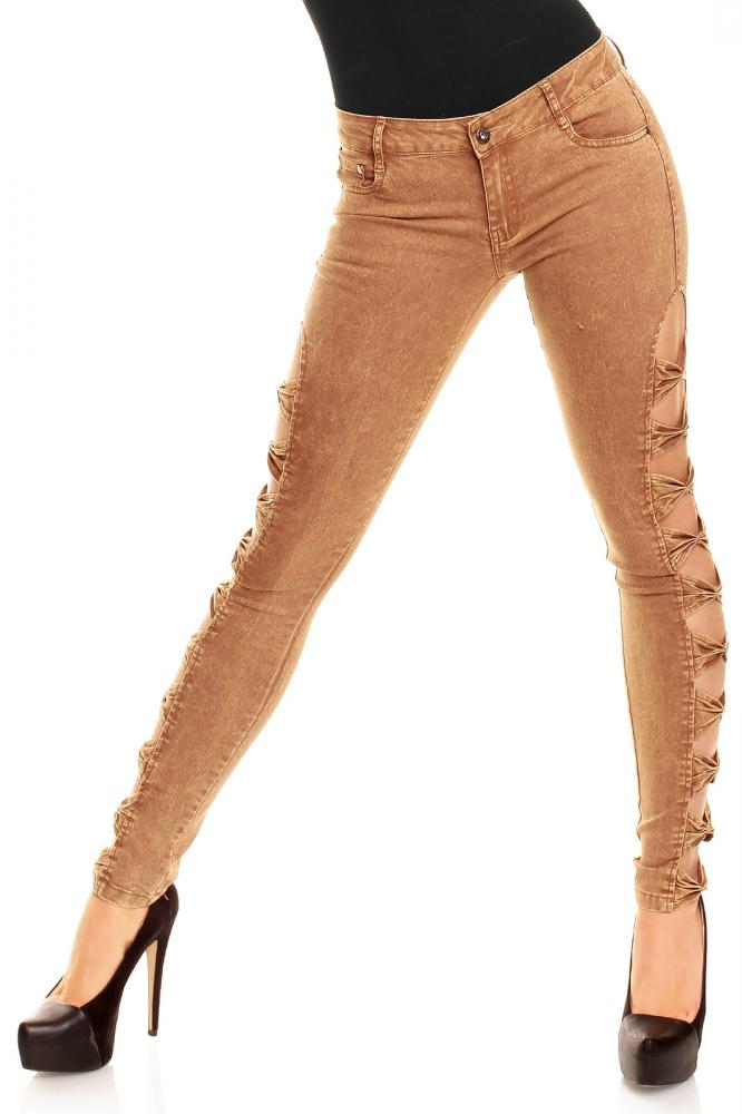 Dámske hnedé džínsy Best Emilie D212, L