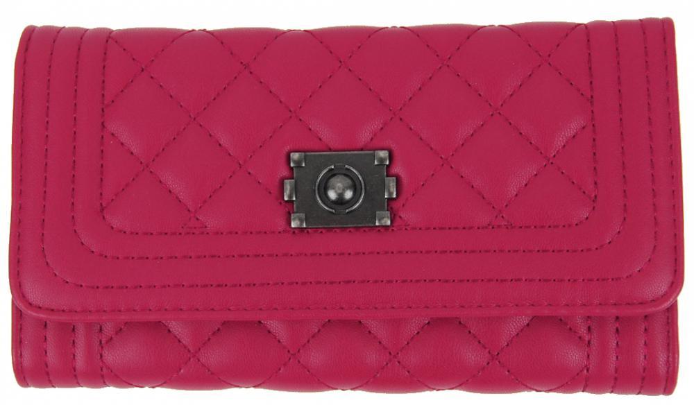 Prešívaná dámska peňaženka DF030 ružová