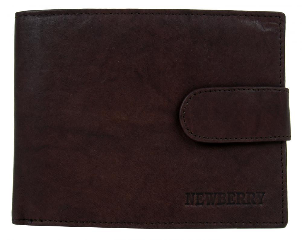 Pánska peňaženka z bravčovej kože New Berry 895 tmavo hnedá