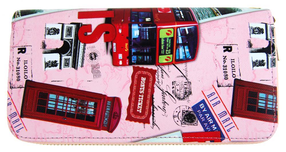 Moderná peňaženka s motívom Paríža T519 ružová