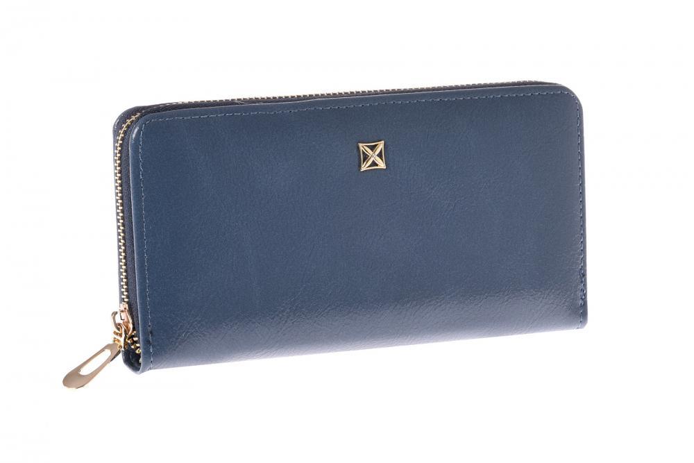 Modrá praktická dámská zipová peněženka v dárkové krabičce