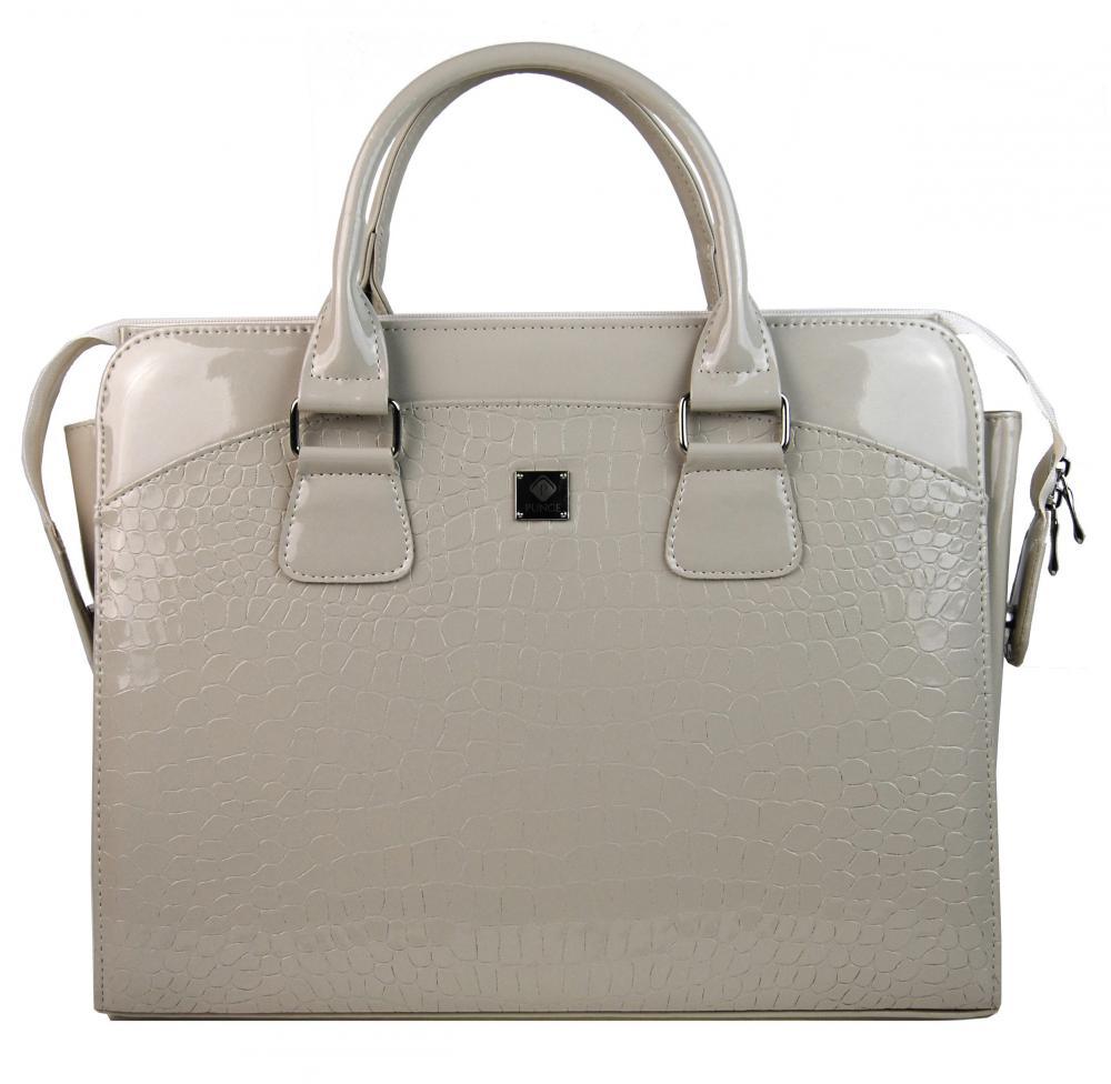 PUNCE LC-01 béžová dámská kabelka pro notebook do 15.6 palce