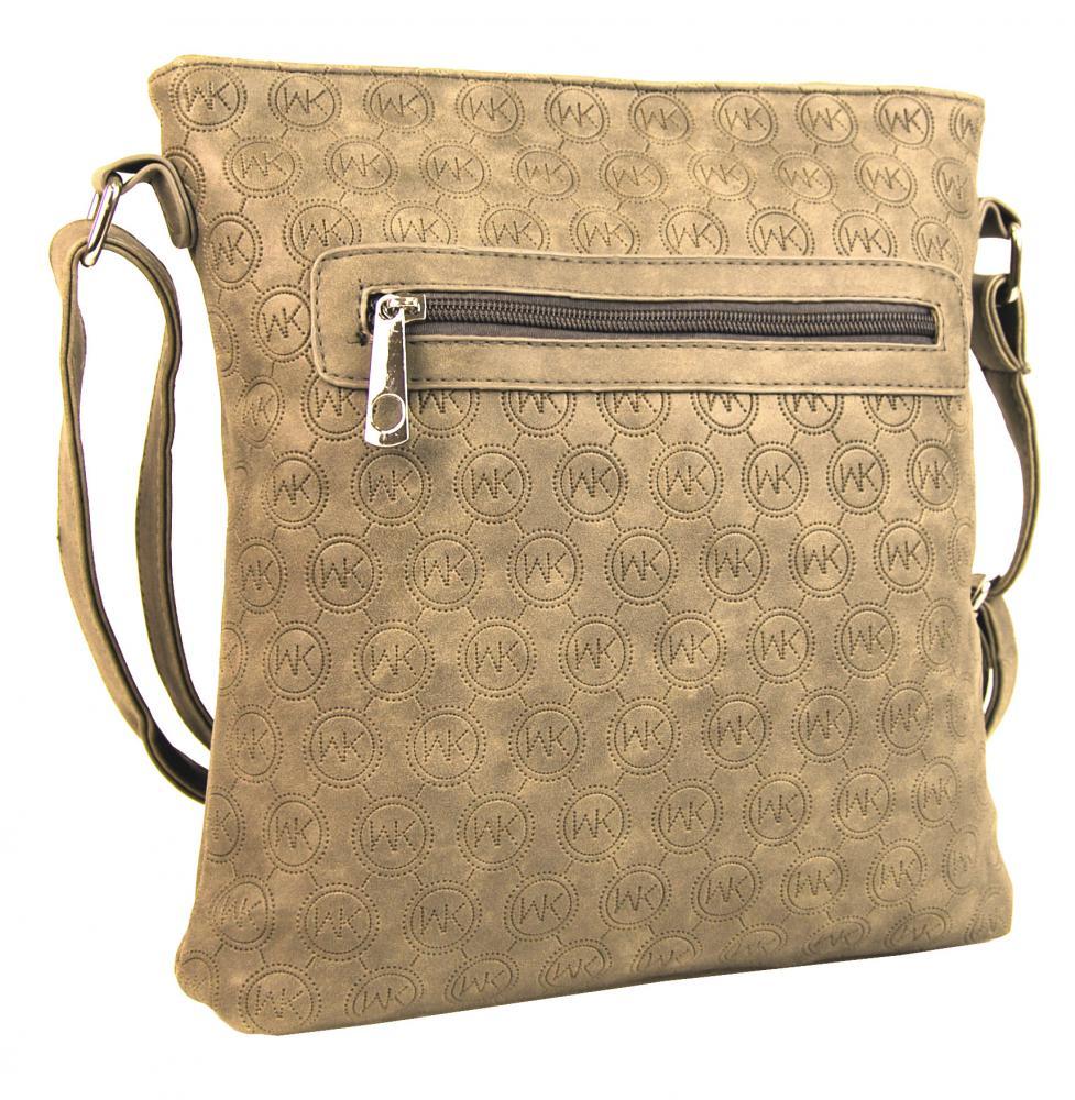 Dámská crossbody kabelka s ražením R820 písková hnědá  ad35a976b97